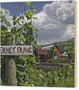 Crane Creek Vineyard Wood Print by Debra and Dave Vanderlaan
