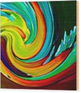 Crashing Wave Wood Print by Amy Vangsgard