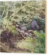 Creekside Smith Gilbert Gardens Wood Print by Elizabeth Carr