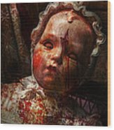 Creepy - Doll - It's Best To Let Them Sleep  Wood Print by Mike Savad