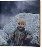Creepy Doll Wood Print by Joana Kruse