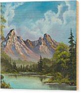 Crimson Mountains Wood Print by C Steele