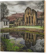 Crucis Abbey Wood Print by Adrian Evans