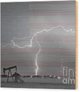 Crude Oil And Natural Gas Striking Across America Bwsc Wood Print by James BO  Insogna