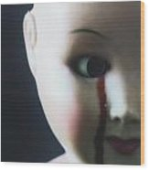 Crying Blood Wood Print by Joana Kruse