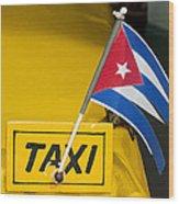 Cuba Taxi Wood Print by Norman Pogson