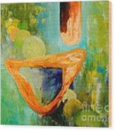 Cue L'orange Wood Print by Larry Martin