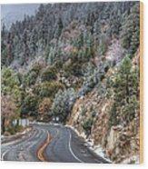 Curves Ahead Wood Print by Eddie Yerkish