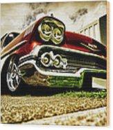 Custom Chevrolet Bel Air Wood Print by motography aka Phil Clark