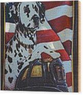 Dalmatian The Firefighters Mascot Wood Print by Paul Ward
