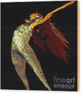 Dance Free Wood Print by Artist and Photographer Laura Wrede