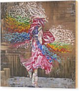 Dance Through The Color Of Life Wood Print by Karina Llergo