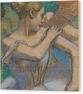 Dancer Adjusting Her Shoulder Wood Print by Edgar Degas