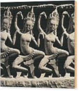 Dancing Apsaras. 13th C. Khmer Art Wood Print by Everett
