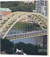 Daniel Carter Beard Bridge Cincinnati Ohio Wood Print by Paul Velgos