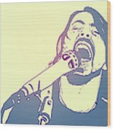 Dave Grohl Wood Print by Giuseppe Cristiano