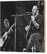 Dave Matthews And Tim Reynolds Wood Print by The  Vault - Jennifer Rondinelli Reilly