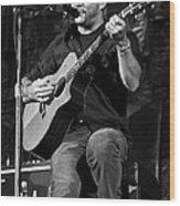 Dave Matthews On Guitar 9  Wood Print by The  Vault - Jennifer Rondinelli Reilly