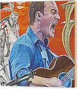 Dave Matthews The Last Stop Wood Print by Joshua Morton