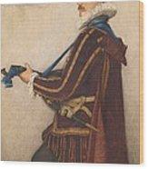 David Rizzio Wood Print by Sir James Dromgole Linton