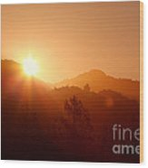 Dawn Over Calistoga Wood Print by Posterity Productions