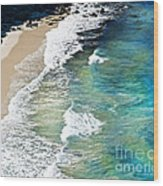 Days That Last Forever Waves That Go On In Time Wood Print by Artist and Photographer Laura Wrede