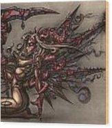 Death's Angel Wood Print by David Bollt