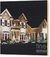 Decorated For Christmas Wood Print by Sarah Loft