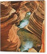 Deer Creek Slot Wood Print by Inge Johnsson