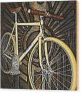 Demon Path Racer Bicycle Wood Print by Mark Howard Jones