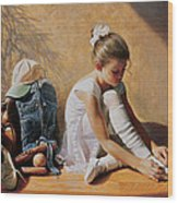 Denim To Lace Wood Print by Greg Olsen