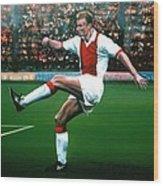 Dennis Bergkamp Ajax Wood Print by Paul Meijering