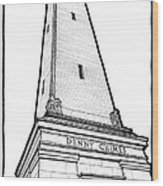 Denny Chimes Wood Print by Calvin Durham