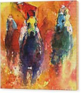 Derby Horse Race Racing Wood Print by Svetlana Novikova