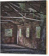 Derelict Building Wood Print by Amanda Elwell