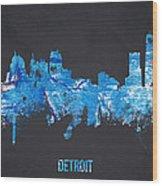 Detroit Michigan Usa Wood Print by Aged Pixel