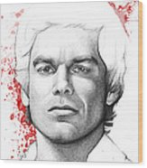 Dexter Morgan Wood Print by Olga Shvartsur