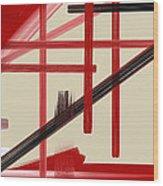 Different Dimensions 9 Wood Print by Arie Van der Wijst