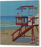Distracted Lifeguard Wood Print by Anthony Dunphy