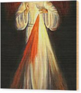 Divine Mercy Wood Print by Sheila Diemert