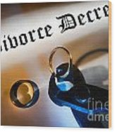 Divorce Decree Wood Print by Olivier Le Queinec