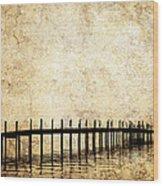 Dock 2 Wood Print by Skip Nall