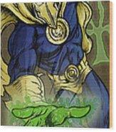 Doctor Fate Wood Print by John Ashton Golden