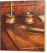 Doctor - Optometrist - I Need My Reading Glasses Wood Print by Mike Savad