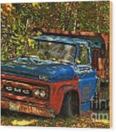 Done Hauling  Wood Print by Alana Ranney