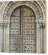 Door Wood Print by Frank Tschakert