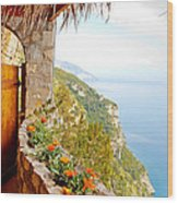 Door To Paradise Wood Print by Susan Schmitz