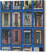 Doors Of New Orleans Wood Print by Heidi Hermes
