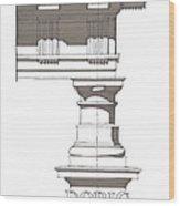 Doric Order Wood Print by Calvin Durham