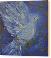 Dove Spirit Of Peace Wood Print by Louise Burkhardt